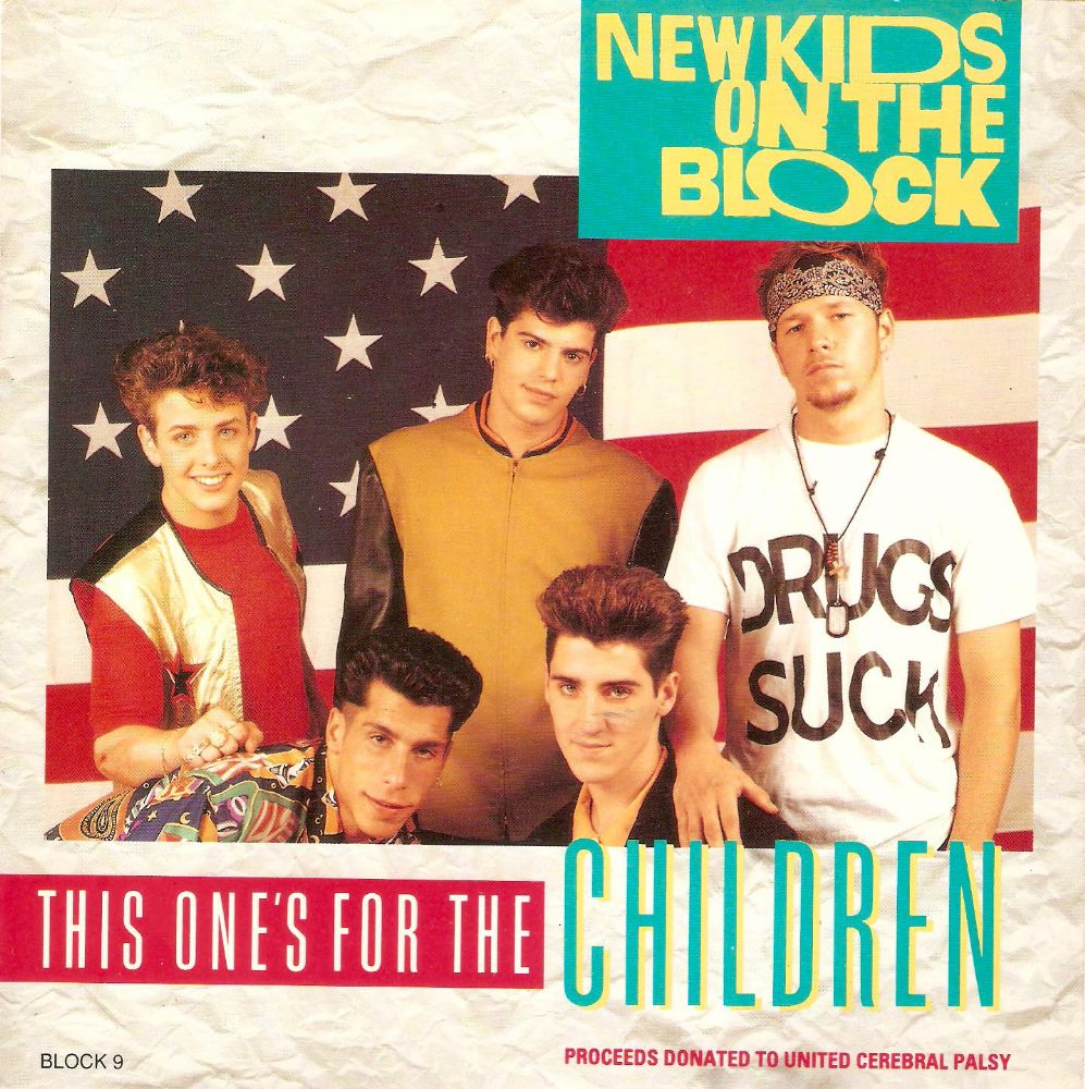 NEW KIDS ON THE BLOCK This One's For The Children Vinyl Record 7 Inch CBS 1990